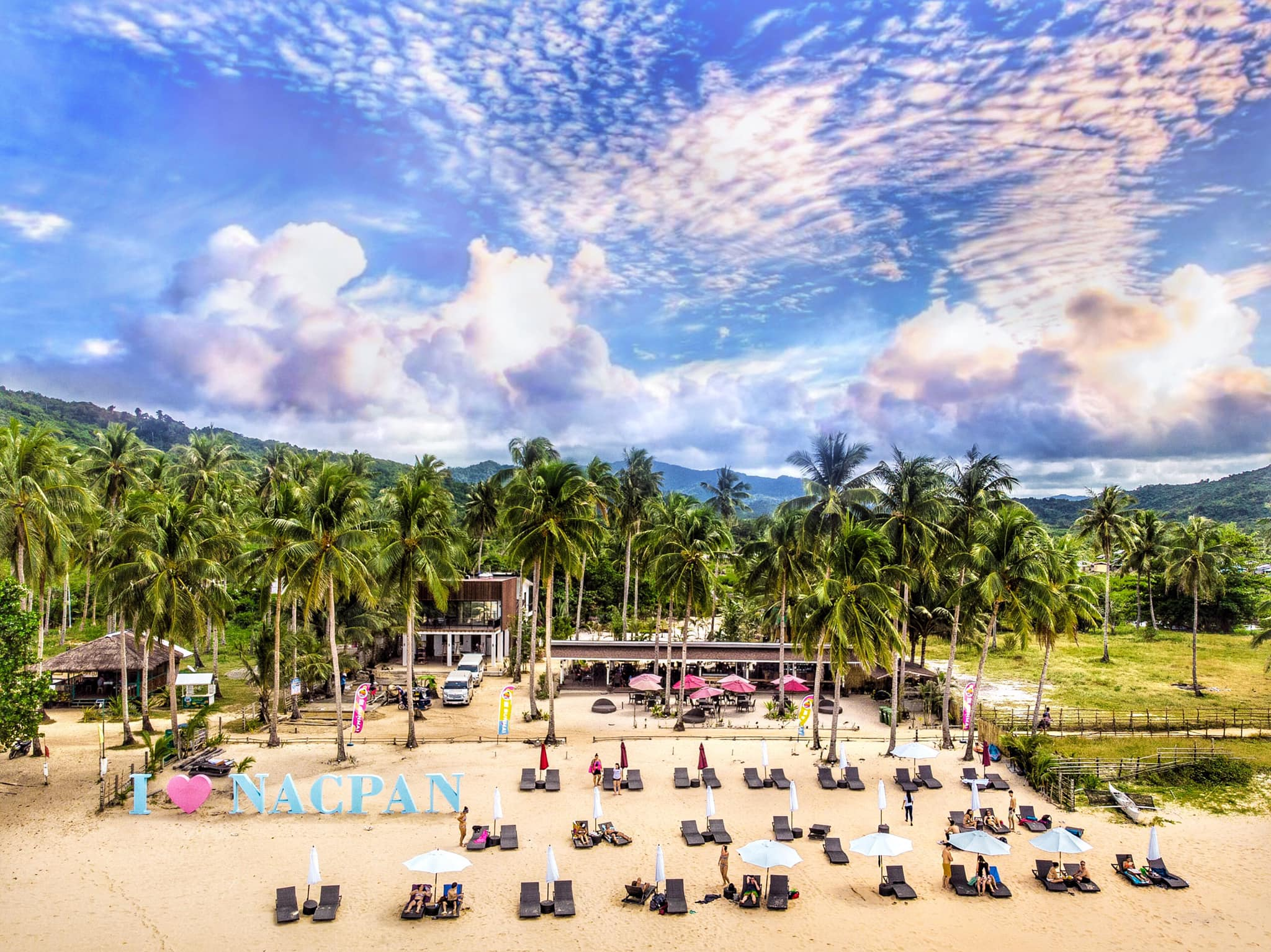 愛妮島夢幻沙灘 Nacpan Beach