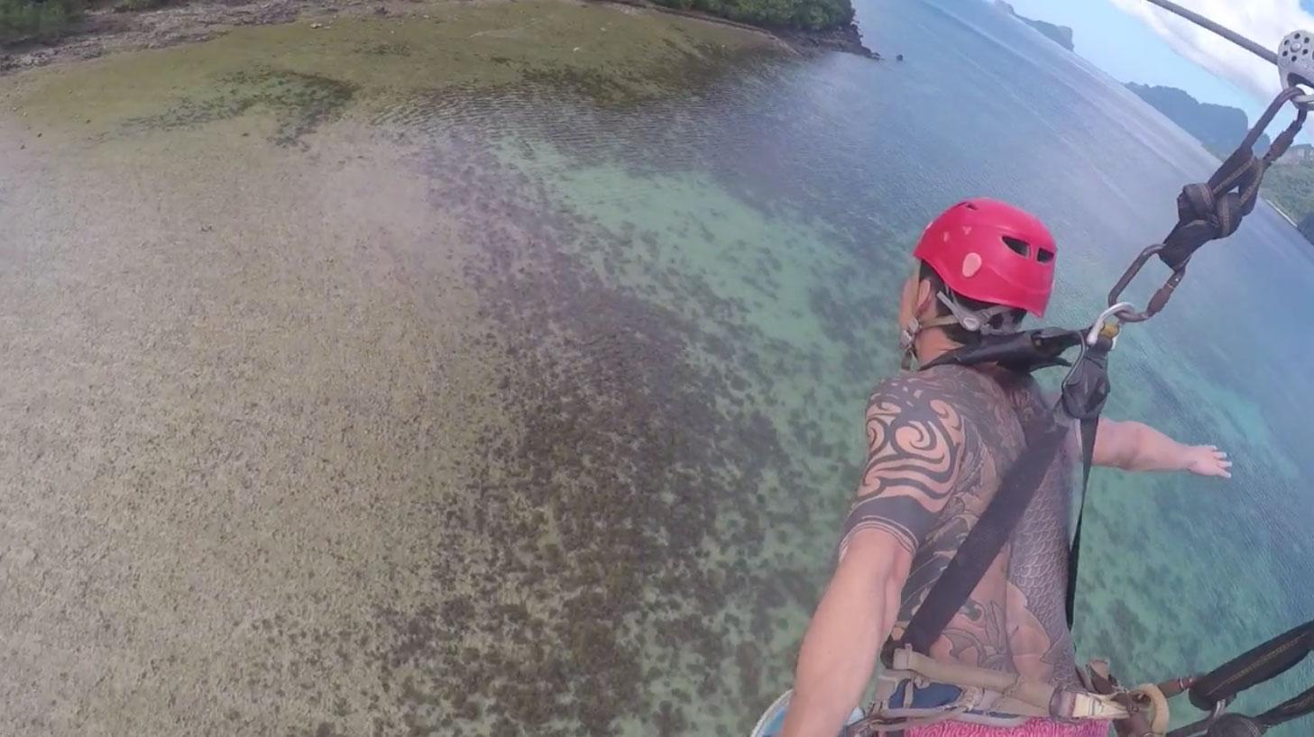 要如何到對面的島呢?當然是飛過去啊!